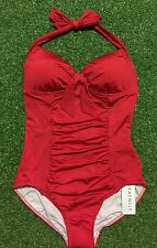 New Seafolly Cupid Red Halter Maillot - Size AU12 / US8