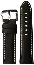 24x22 RIOS1931 for Panatime Black Vintage Leather Watch Strap for Panerai