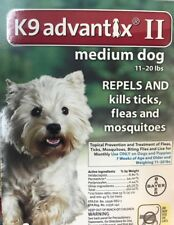 K9 Advantix II for dogs 11-20 lbs, 1  month Supply,  original product ,Free Ship
