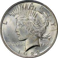 1922 Peace Silver Dollar Brilliant Uncirculated - BU