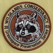"Pa Pennsylvania Fish Game Commission 2003 Wildlands Conservancy 4"" Raccoon Patch"