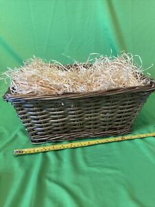 Strong Willow Wicker Picnic 36cm X 31 X 16 Cm Empty Hamper Basket