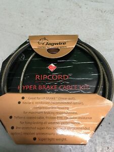 NEW Jagwire Ripcord Hyper BRAIDED Brake Kit w/ MTB & Road ends Cables + Housing