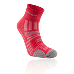 Hilly Mens Twin Skin Anklet Womens Socks - Pink Sports Running Breathable