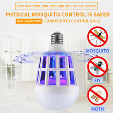 Mosquito Lamp Bug Zapper Light Bulb Fly Trap Killer Indoor UV Led Insect R3A4