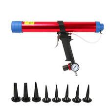Pneumatic Glass Glue Caulk Gun Air Caulking Aluminum Alloy Lightweight 600ML New