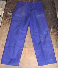 pantalon bleu de travail Sanfor , hobo paysan corvée