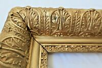 "SM ANTIQUE FITS 7 X10"" GOLD PICTURE FRAME WOOD GESSO ORNATE FINE ART COUNTRY"
