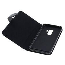 Book Case Etui Handytasche Tasche Hülle f. Samsung Galaxy S9+ Plus (Schwarz)