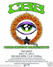 Chris Robinson Brotherhood 2012 Salt Lake Concert Tour Poster - Black Crowes