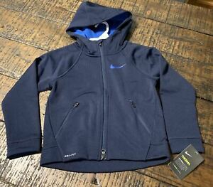 NIKE Therma Dri Fit Boys Blue Jacket 86B208 695  Blue Child 7