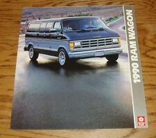 Original 1990 Dodge Ram Wagon Deluxe Foldout Sales Brochure 90