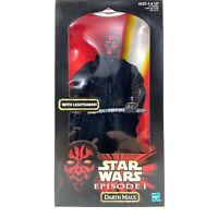 "Hasbro STAR WARS Episode 1 Phantom Menace DARTH MAUL 12"" inch Figure NEW IN BOX"