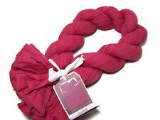West Elm Orchid Red Pink Crinkle Plisse Full Queen Duvet Cover 2 King Shams New