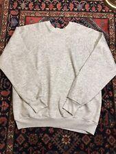 Vintage 80s Crewneck Sweatshirt XL Gray Tri Blend Rayon