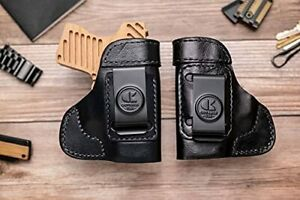 OUTBAGS USA LS3HELLCAT BK-RH Full Grain Heavy Leather IWB Conceal Carry Holst...