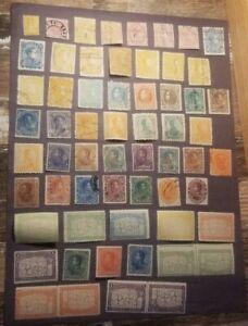 Venezuela Stamp Lot. 1859 - 1962. Used & Unused. Prev. Hinged on Album Pages.