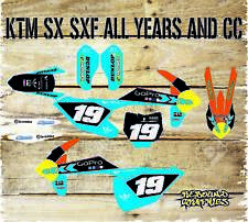 KTM SX SXF 85 125 250 450 FULL GRAPHICS KIT-FULL STICKER KIT-DECALS-MOTOCROSS GO
