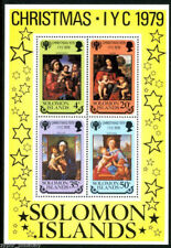 "Solomon Islands - ""ART ~ PAINTINGS ~ CHRISTMAS 1979"" MNH Mini Sheet MS !"