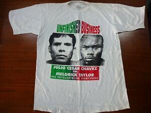 Julio Cesar Chavez VS Meldrick Taylor WBC Super Lightweight Mens XL Boxing Shirt