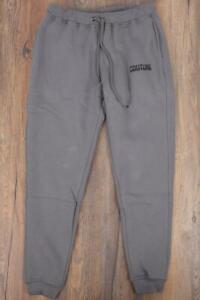 Mens Fresh Couture Logo Fleece Grey Track Pants (SJ2) RRP £49.99