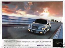 Publicité advertising 2002 Chrysler PT Cruiser 2,2 L CRD