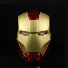 Avengers Iron Man Adult Motorcycle 1:1 PVC Helmet Cosplay LED Light Mask Prop