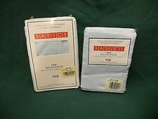 NEW Sealed Pair of King Pillow Cases Light Blue Cotton Polyester 135 Thread Inch