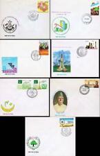 PAKISTAN 1987-88 x 8 FDC's
