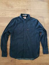 Mens Levi Dark Blue Denim Shirt Size S