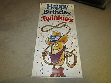 Hostess Happy Birthday Twinkies Paper Display Sign