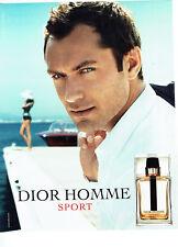 Publicité Advertising 018  2012  parfum Dior homme sport & Jude Law