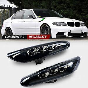 LED Side Marker Light Smoke Turn Signal Lamp For BMW E82 E88 E60 E61 E90 E91 E92