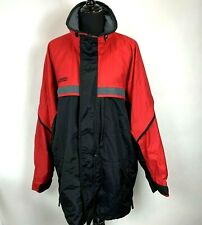 Vintage 90s Columbia Gizzmo Jacket size L Mens Red Black Zip Front Parka Coat