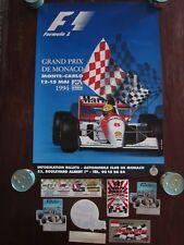 Ayrton Senna / G. P. Monaco Poster & factory stickers