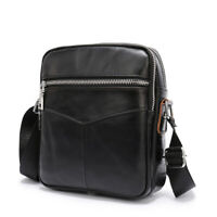 100% leather shoulder/message bag double zipper men's Messenger bag