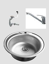 Für Bad & Küche Spülen aus Edelstahl ohne Abtropffläche | eBay | {Spülbecken küche rund 95}