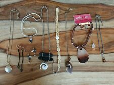 Vintage Costume Jewelry Lot 11 pieces~Shell~Wood~Beads~  *Free shipping