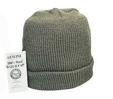 Wool Watch Cap - Camo Military Issue - OLIVE DRAB - MADE IN THE USA