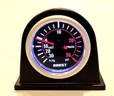"""2"""" Universal Auto Car Turbo Boost Vacuum Press Gauge Meter w/ flat black Pod PSI"""