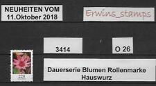 O26 BRD 11.Oktober 2018 Mi.-Nr.: 3414 HAUSWURZ von der Rolle ohne Nummer