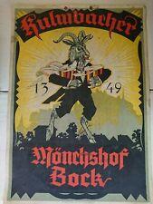 1949 Bier Brauerei Werbung Kulmbacher Mönchshof Bock alte Plakat Werbung