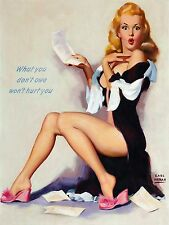 Pin-up Moran What You Don't Owe High Quality Metal Magnet 3 x 4 inches 9511