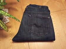 WOMENS SEVEN 7 FOR ALL MANKIND GWENEVERE SKINNY CROP JEANS 28 X 28 VERY NICE!