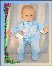 """Doll Clothes Baby Made 2 Fit American Girl 15"""" inch Bitty Pajamas Stars Blue"""