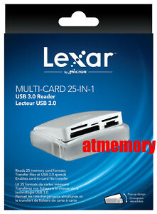 Lexar Multi-Card 25 in 1 USB3.0 Memory Card Reader LRW025URBAP