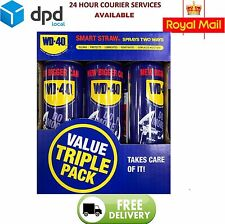 WD40 Smart Value Pack 3 x 450ml Cans with Smart Straw