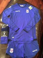 Macron 2016-17 Stoke City FC Goalkeeper Kit, Size Youth XL