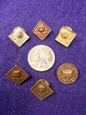 #4 of 4, LOT OF BOY SCOUT PINS - 2 BOBCAT, GOLD-SILVER-BRONZE-COPPER CUB SCOUT
