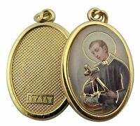 Gold Toned Base Patron of Mothers Saint Gerard Icon Medal, 1 Inch